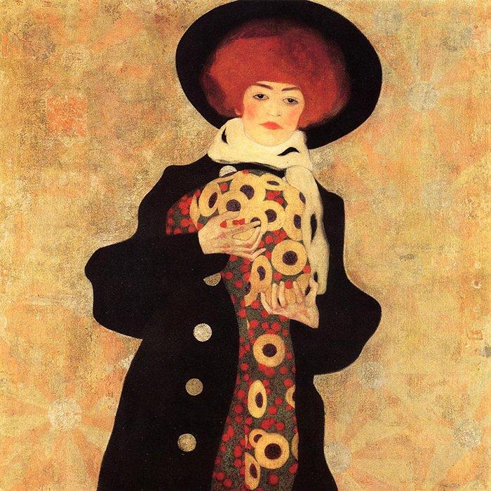 Egon Schiele - Donna con cappello nero