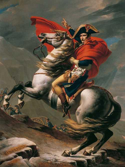 David Jaques Louis - Napoleone al Gran San Bernardo