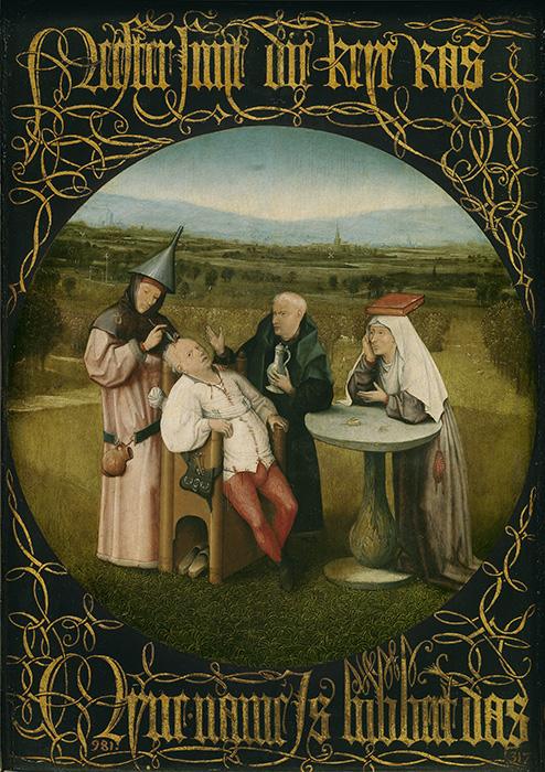 Hieronymus Bosch - Estrazione della pietra della follia