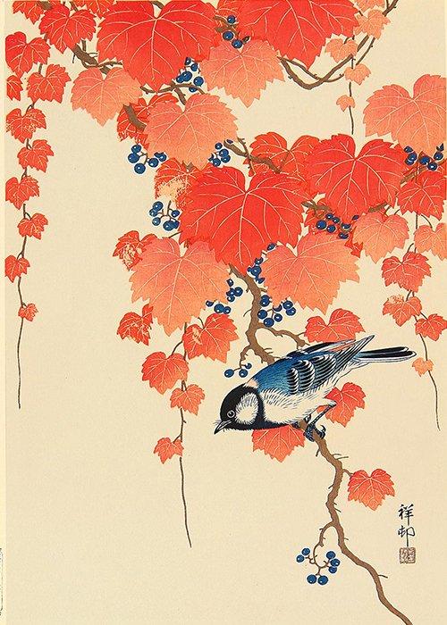 Ohara Koson - Uccellino su ramo