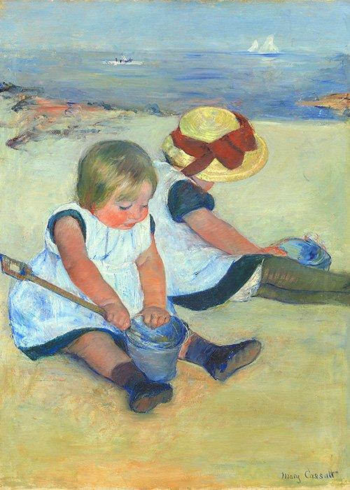 Mary Cassatt - Bambini che giocano sulla spiaggia