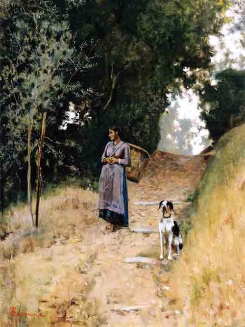 Telemaco Signorini - Contadina e il cane
