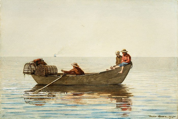 Winslow Homer - Three man in a boat