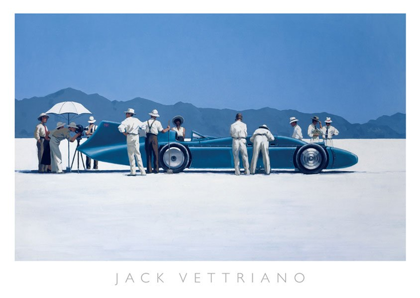 HP195070Vettriano Bluebird at Bonneville