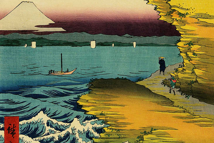 Utagawa Hiroshige - Veduta Fuji