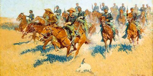 Frederic Remington - Attack on an Indian Village
