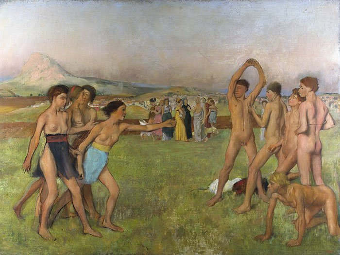 Edgar Degas - Giovani spartani che si esercitano