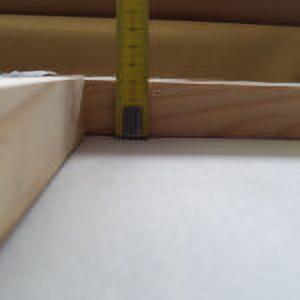 Retro tavola a cassetta con evidenziato spessore cm. 3 x 3