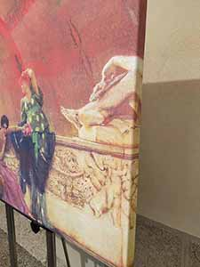 Canvas Serie Serigrafica (Edizione Limitata) solo misure standard con telaio in abete di cm 3 x 4 bordo continuato coperto dalla stessa immagine
